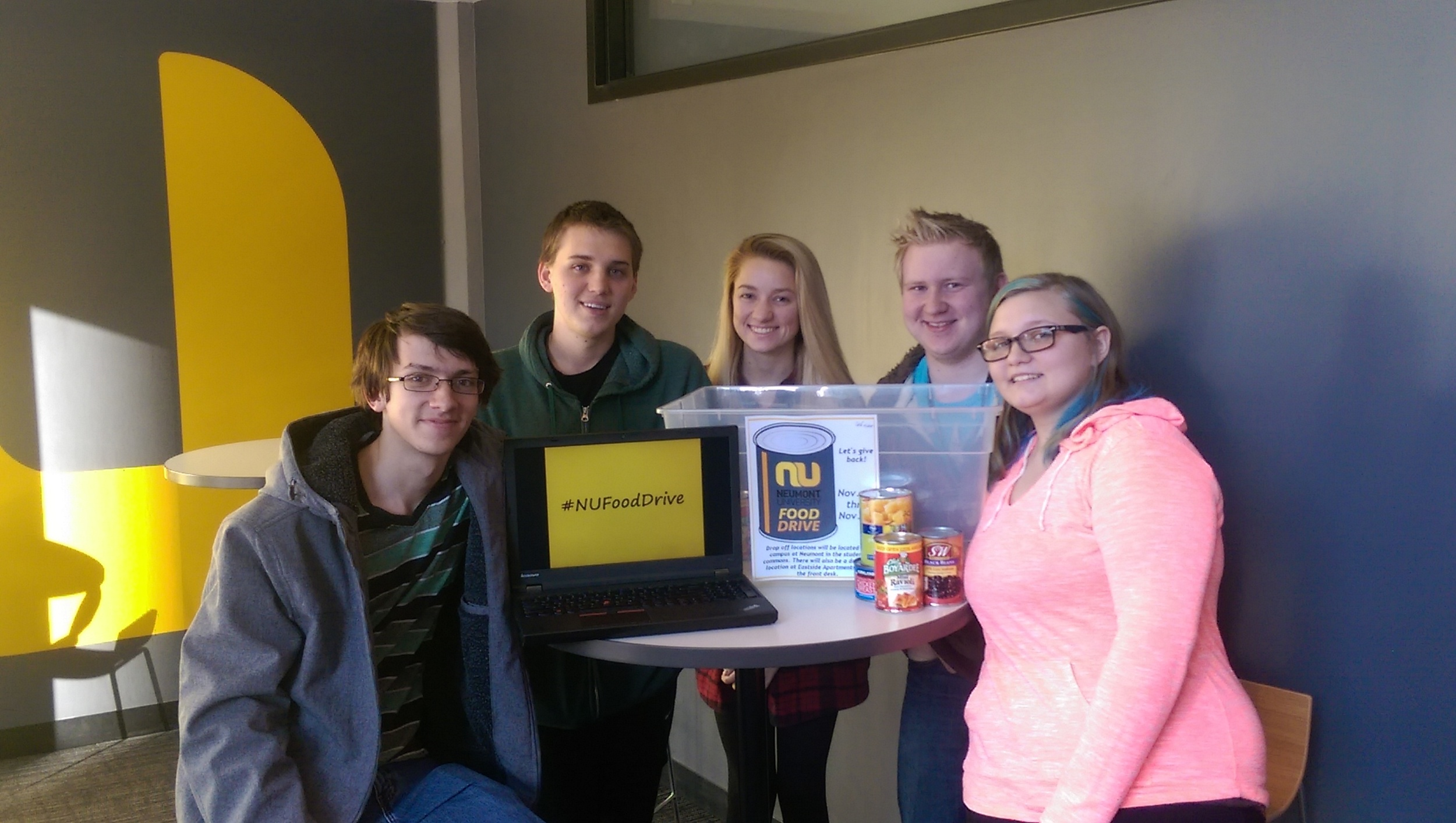 Students hosted a food drive, in addition to clothing and blood drives, to help the community throughout the year.