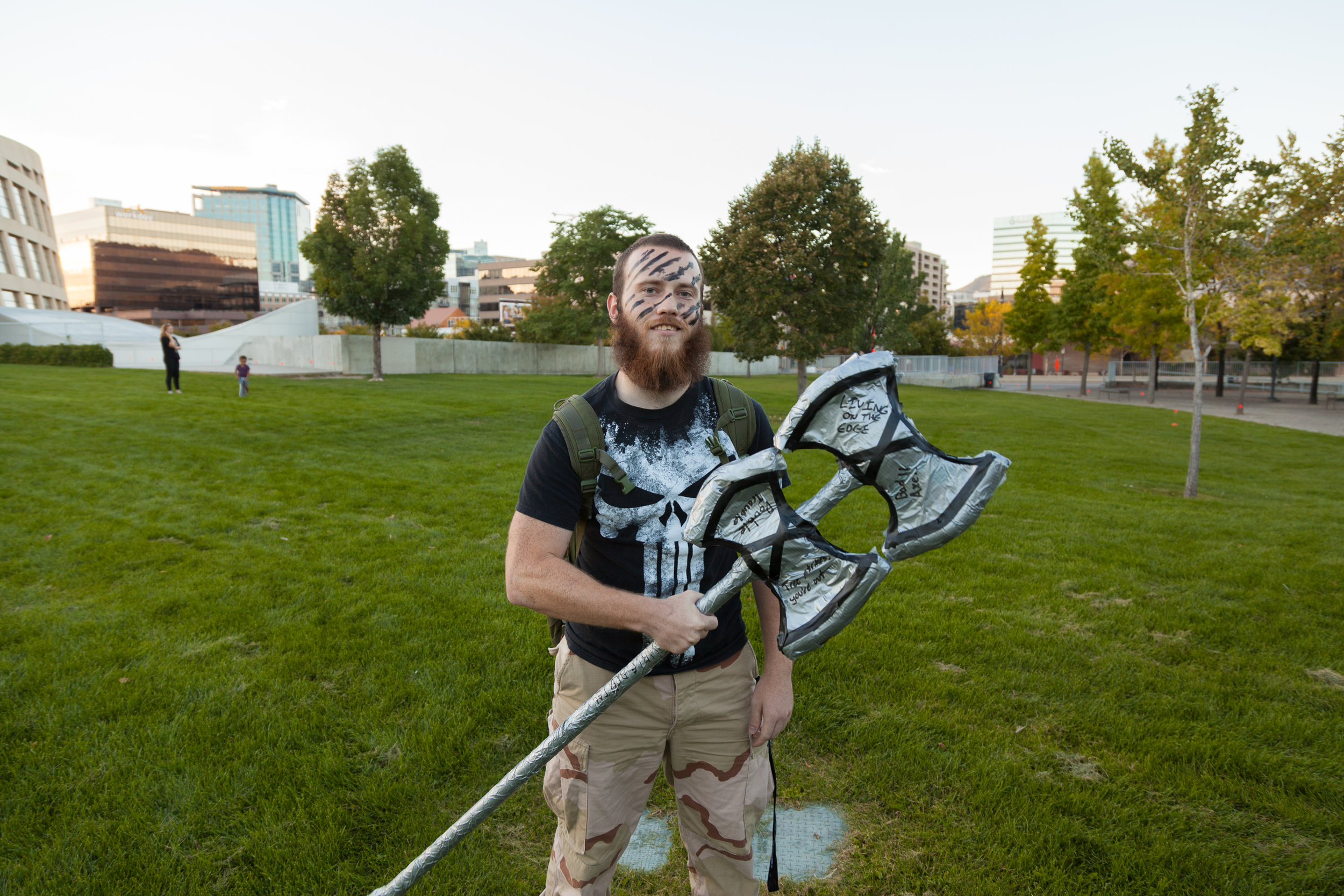Student Josh Little at Neumont's 2015 Annual Fall Foam Massive at Library Square.
