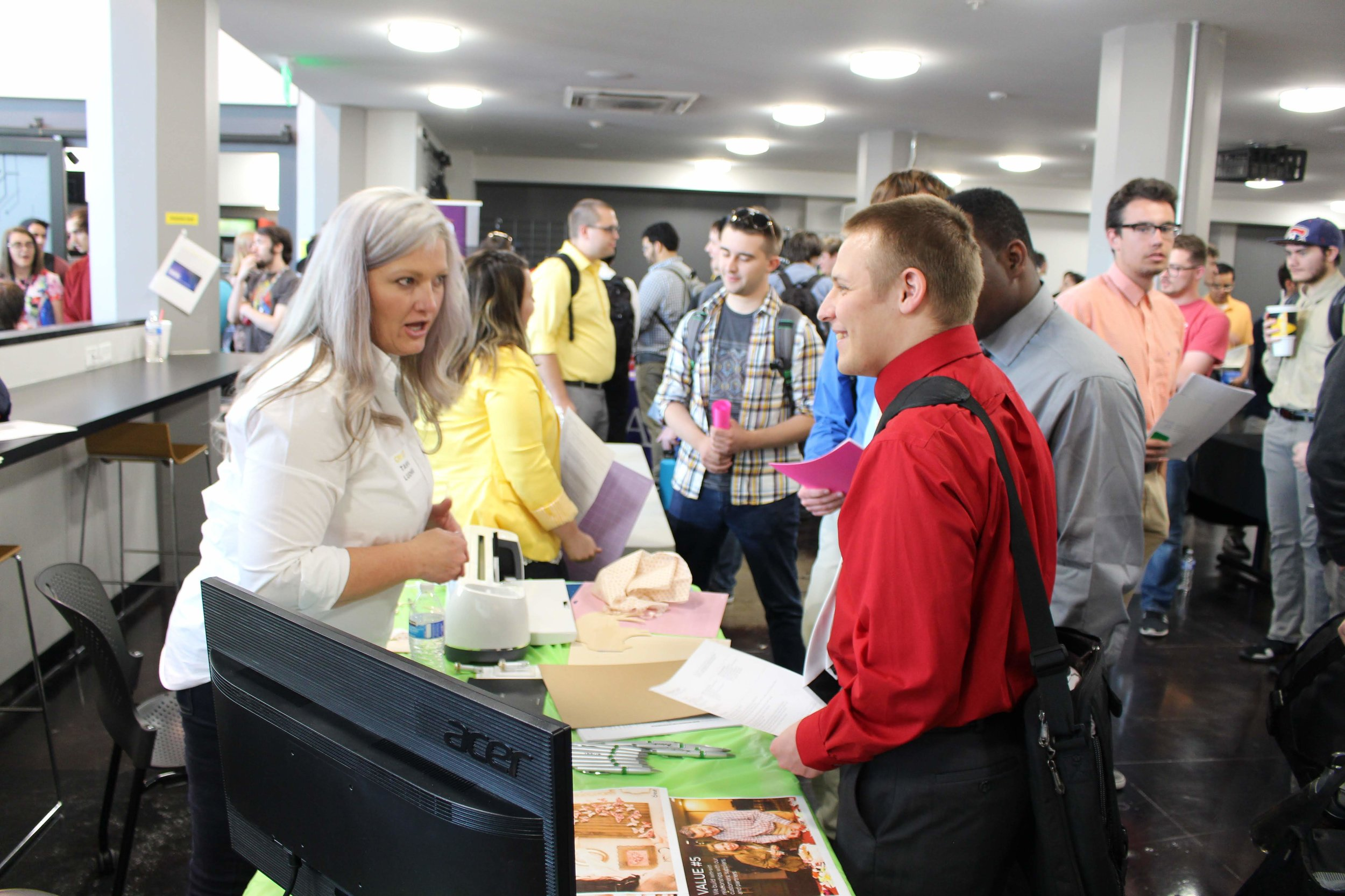 Students connect with recruiters and developers from local and national companies.