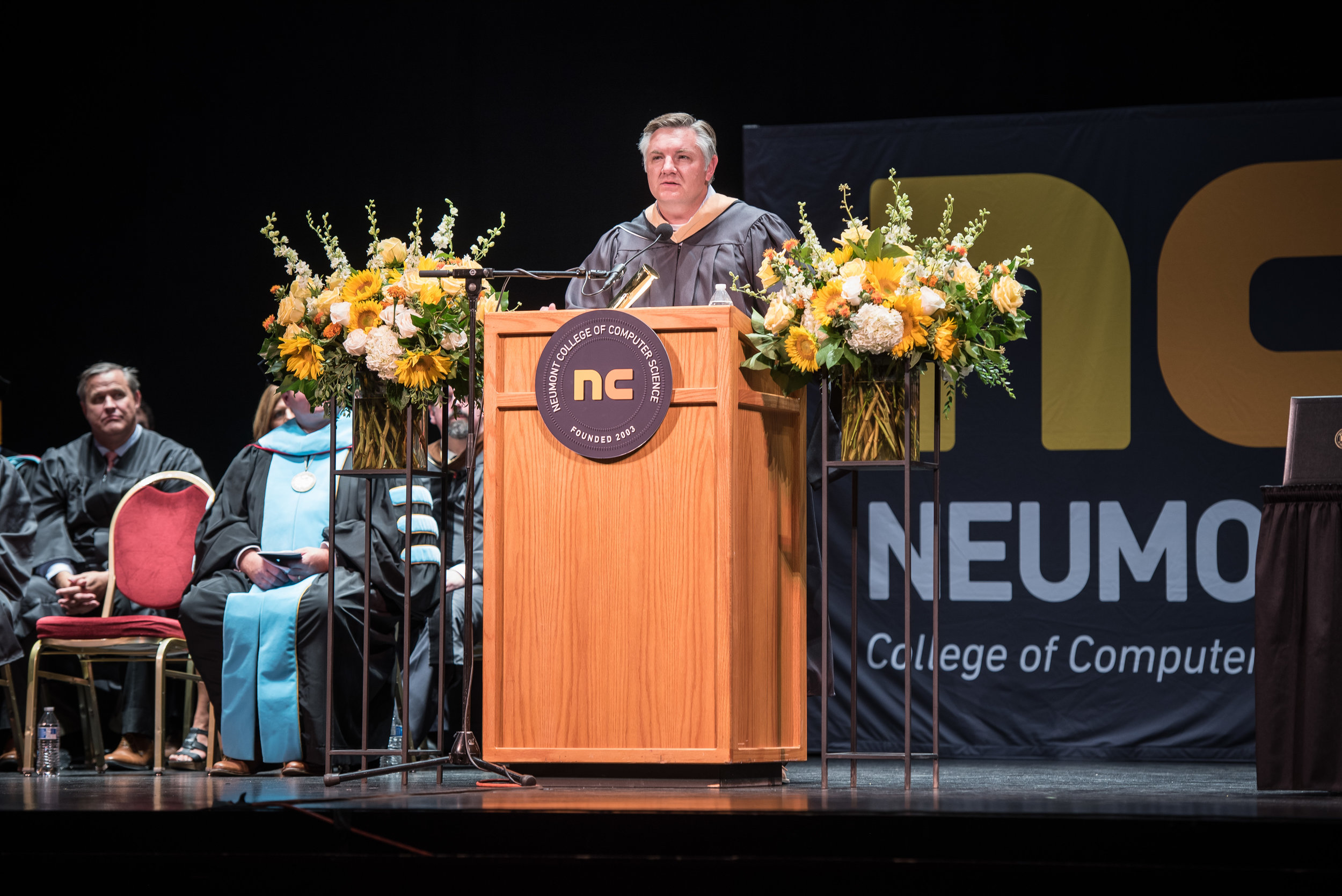2018 Commencement Ceremony Keynote Speaker John Knotwell, Utah Technology Council president and CEO, reminds graduates that the best way to find success is to help others.