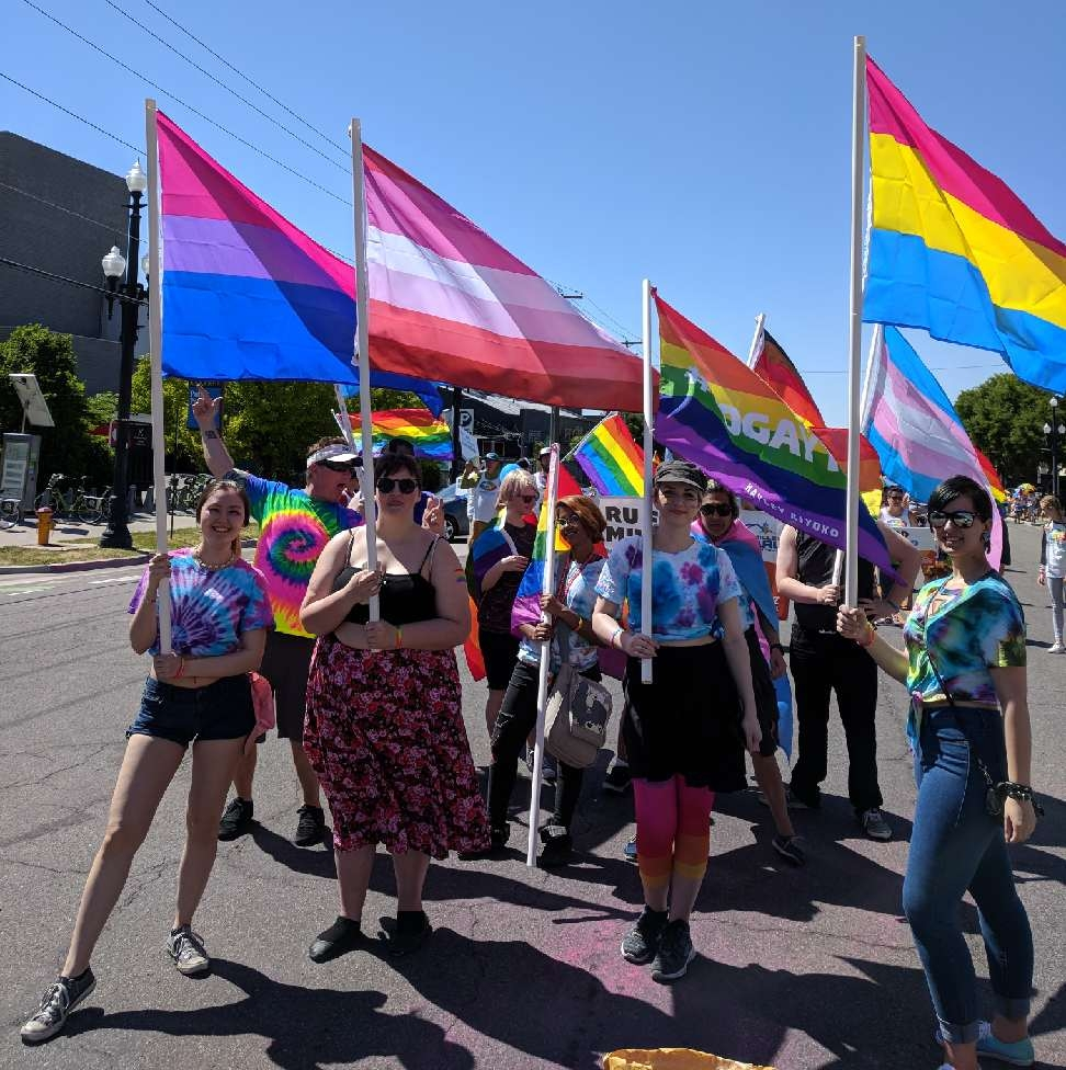 Students and members of the Spectrum club marched in Salt Lake City's annual Pride Parade.