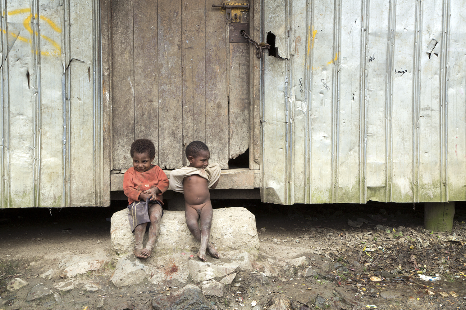 Two boys, Mugalep Village, Porgera, 2015