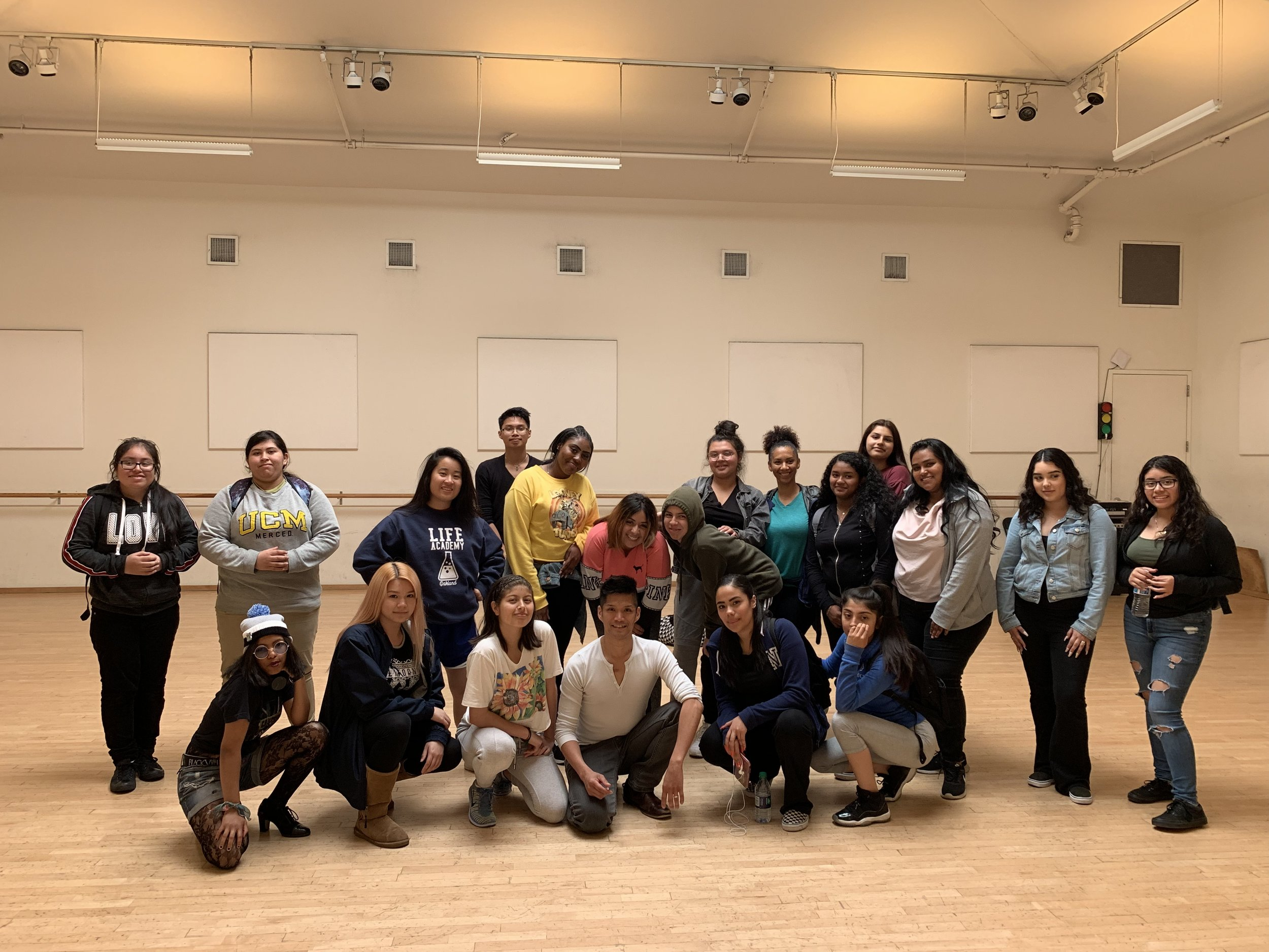 Life Academy students with R&M instructor Dudley Flores