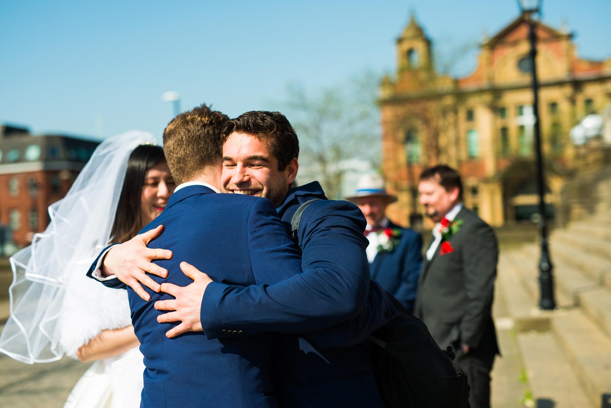 Nottingham wedding photographer at Leeds town hall