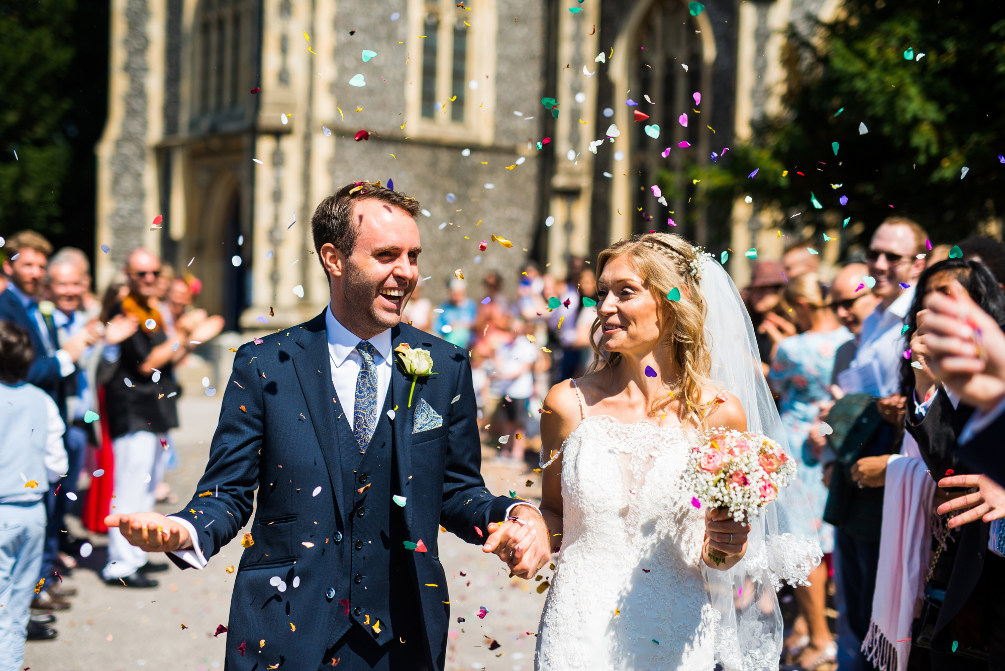 CONFETTI PHOTO by Nottingham wedding photographer