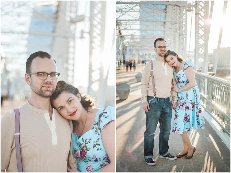 Ammi & Daniel at Downtown Nashville, Tennessee on the John Seigenthaler Pedestrian Bridge.