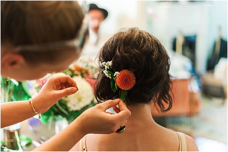 Flowers in here her hair! Just like a fairy tale!