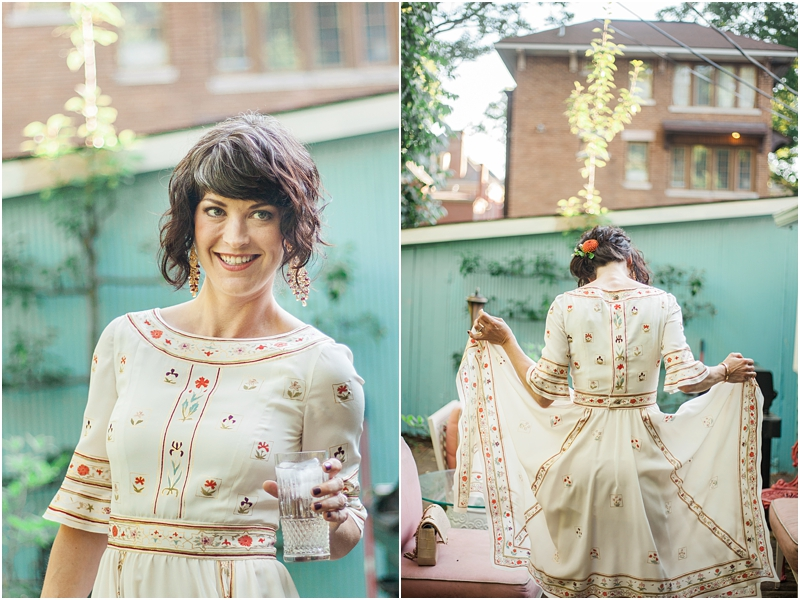 Relaxed and chic the bride really shines in this backyard wedding!