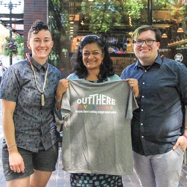We had a great time with @repjayapal last week on a queer history walking tour in Pioneer Square! Preserving and protecting the stories of those who certain histories try to erase is necessary and critical work. Thank you again to the Congresswoman for taking the time to share space and celebrate Seattle's diverse queer history! #nothingstraightaboutnature #getoutthere