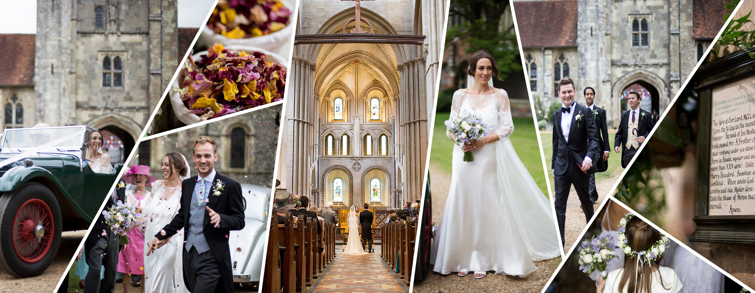 Winchester wedding venue and photography at St Cross Church