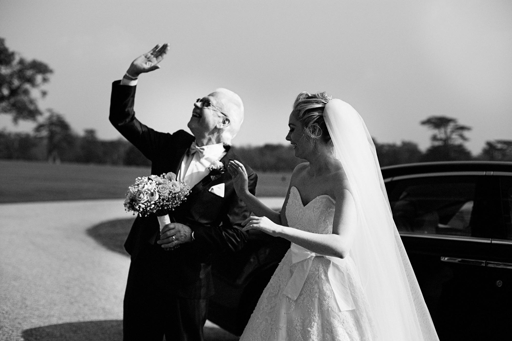 Father of bride wedding car