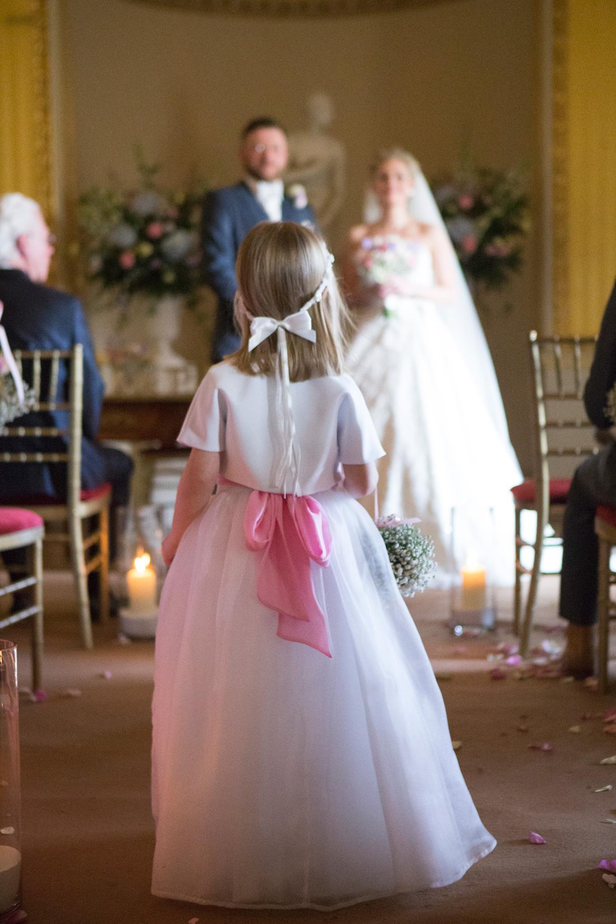 Flower Girl Goodwood House Wedding