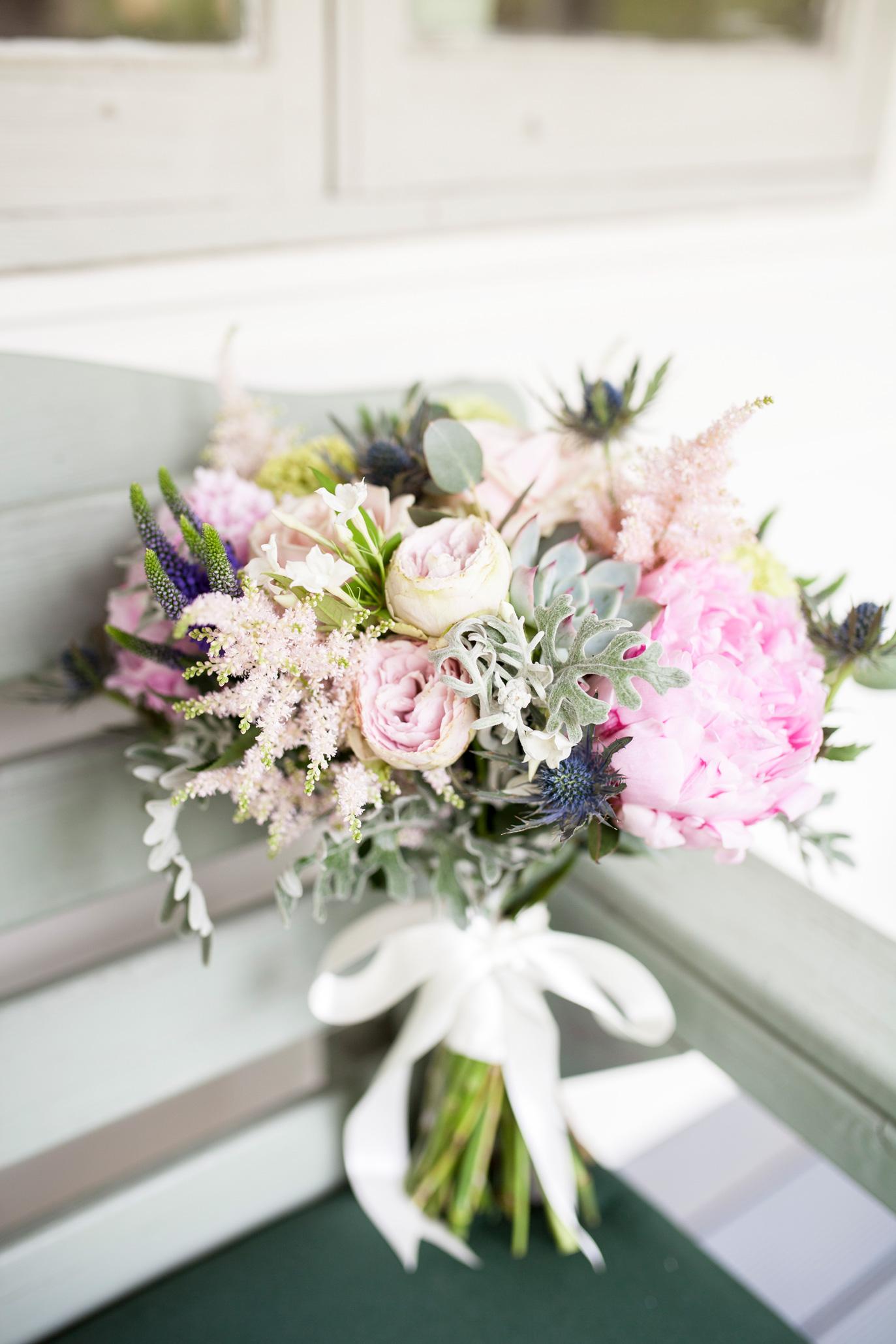 bouquet, ribbon, pastel,