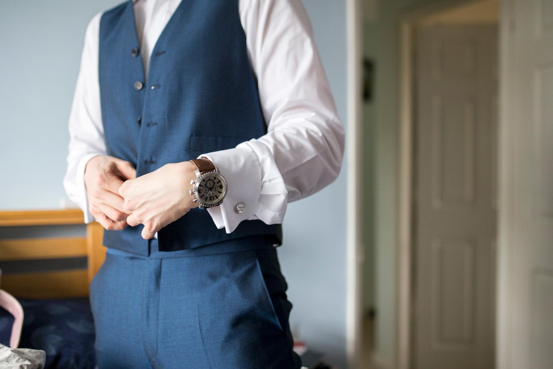 watch, groom, suit, buckinghamshire wedding,