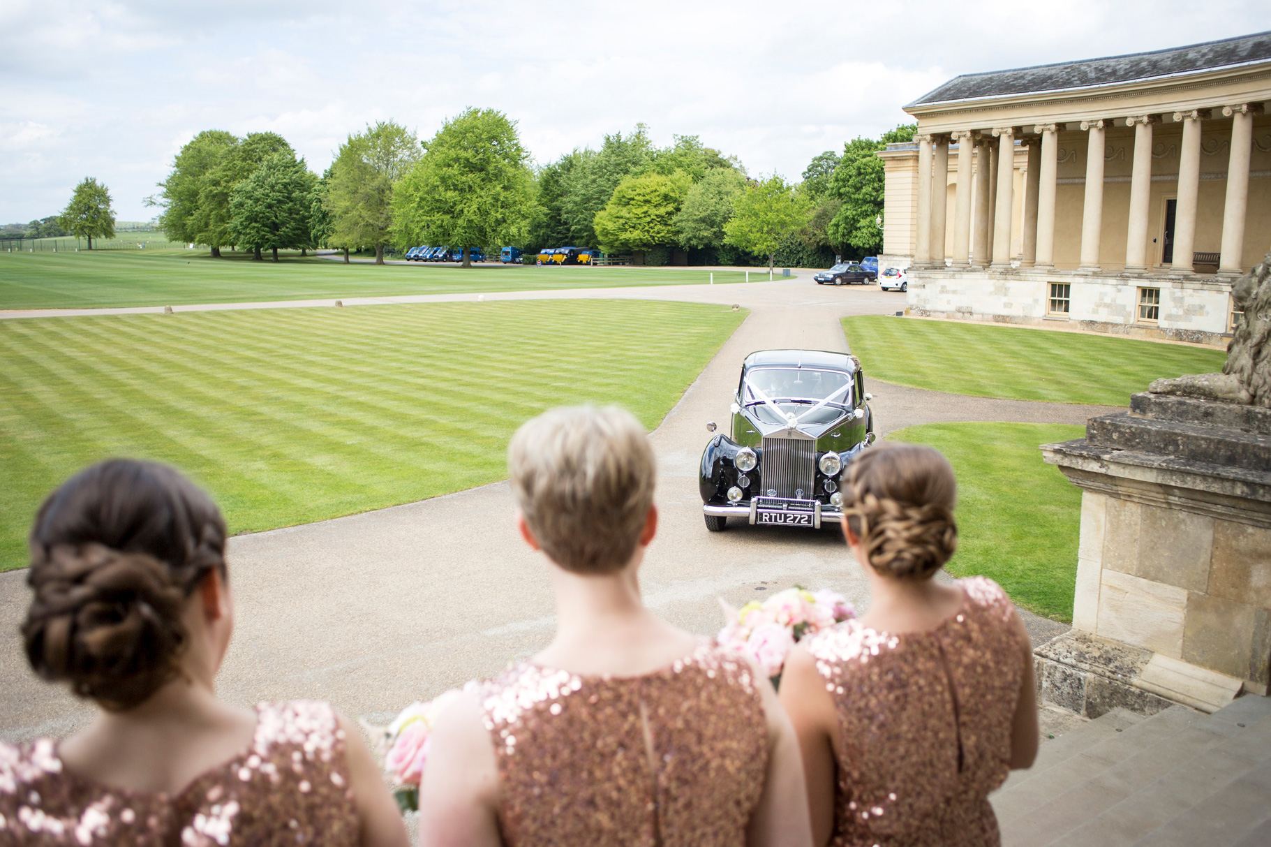 Wedding Car, Stowe House, Bridesmaids,