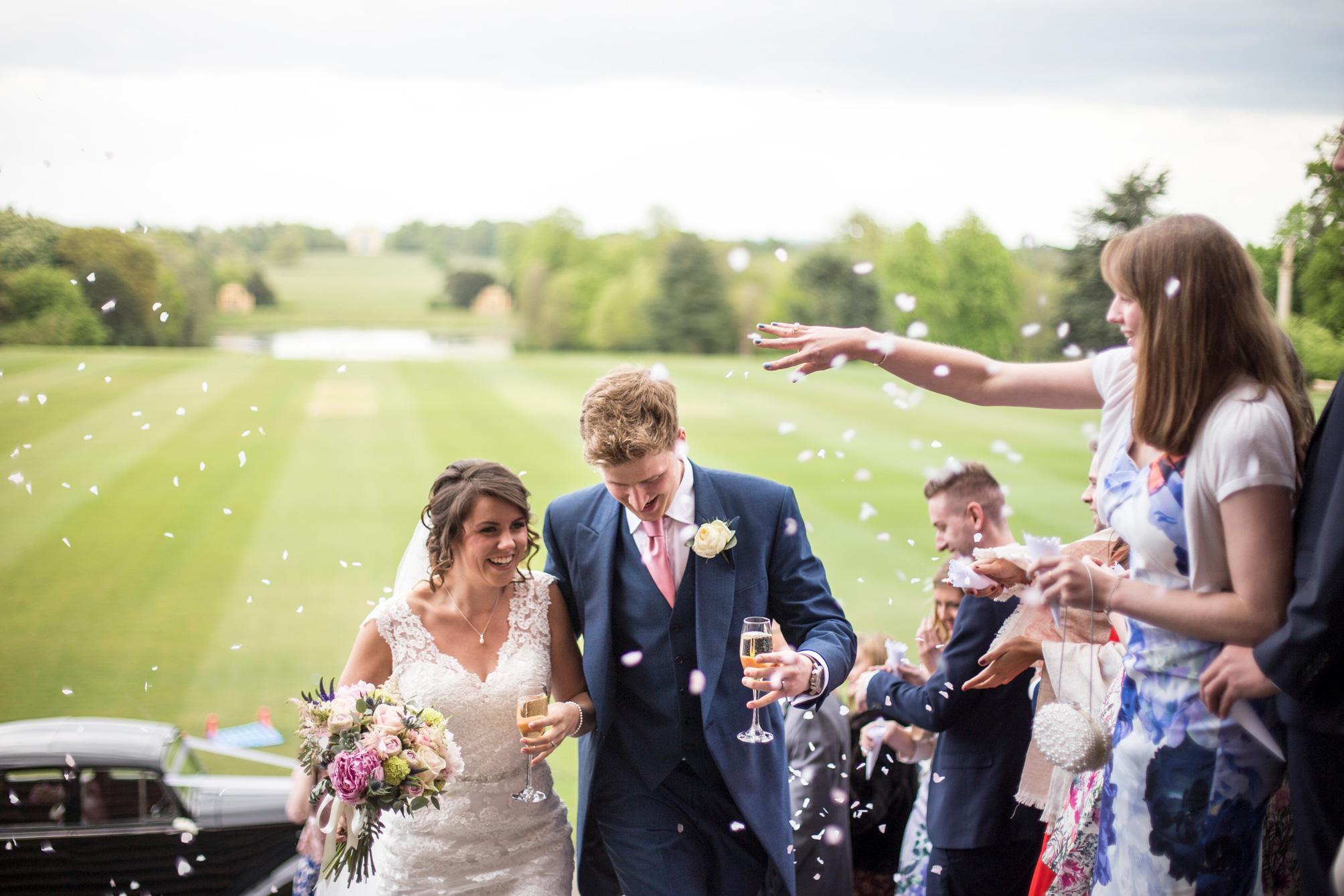Confetti, Stowe Wedding, Summer Wedding,