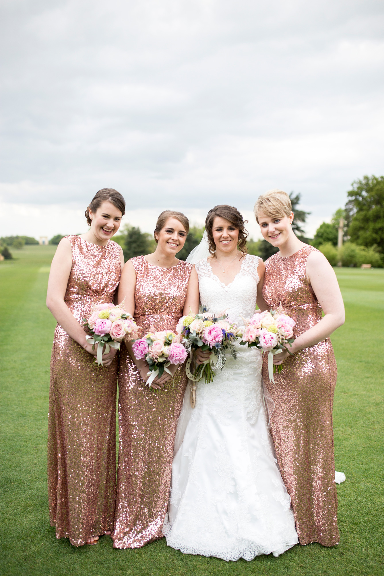 bridesmaids, blush pink, sequins,