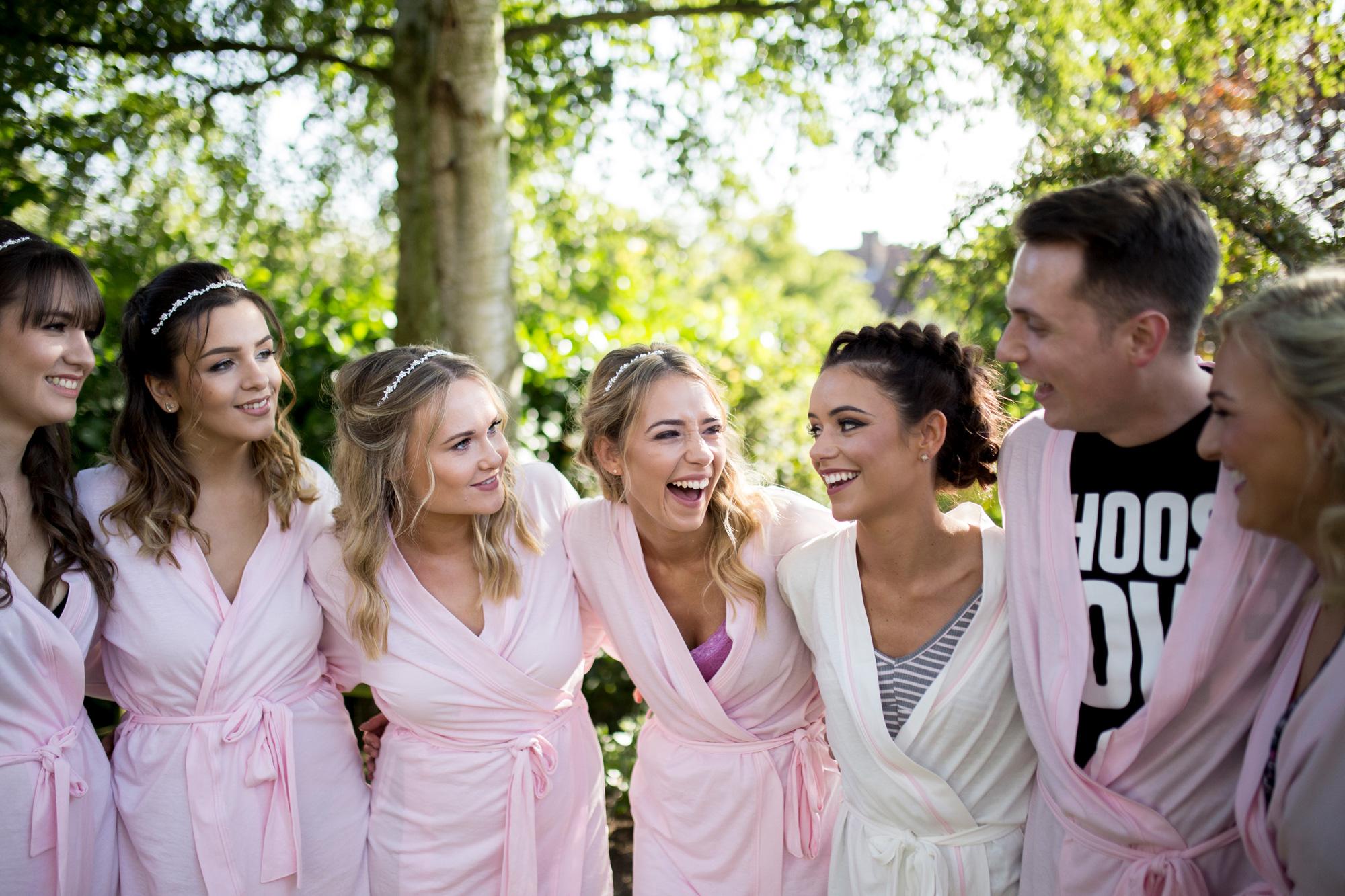 girls, morning, buckinghamshire wedding photographer, horwood house, bridesmaids hair,