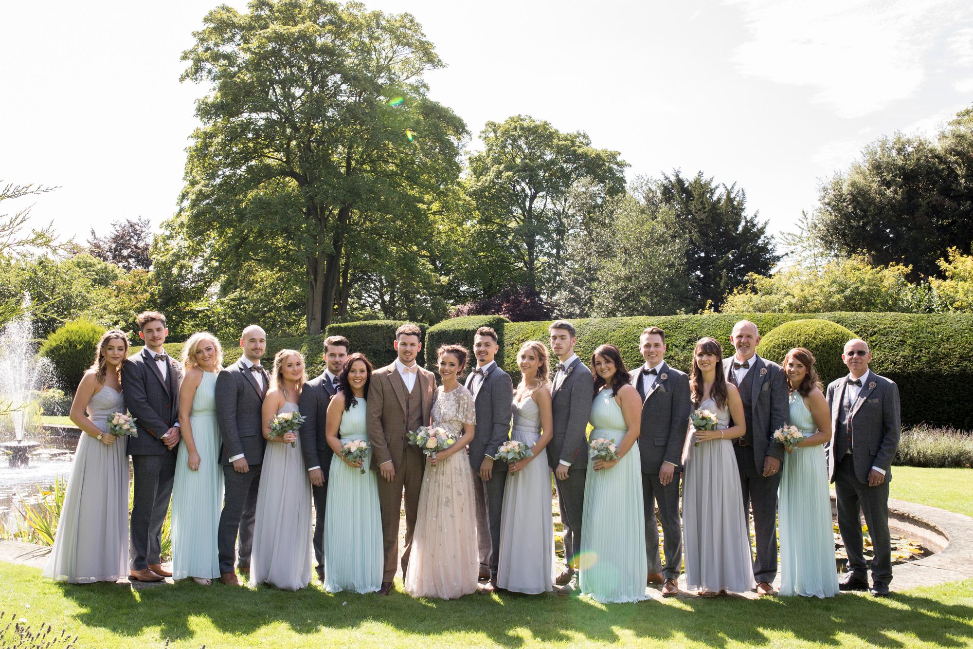 bridesmaids, groomsmen, wedding party, brief, groom,