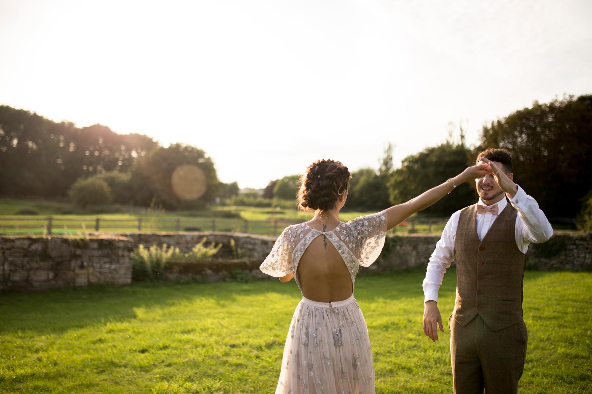 Couple, Sunset, Dancing, Needle and Thread, Bride, Groom,