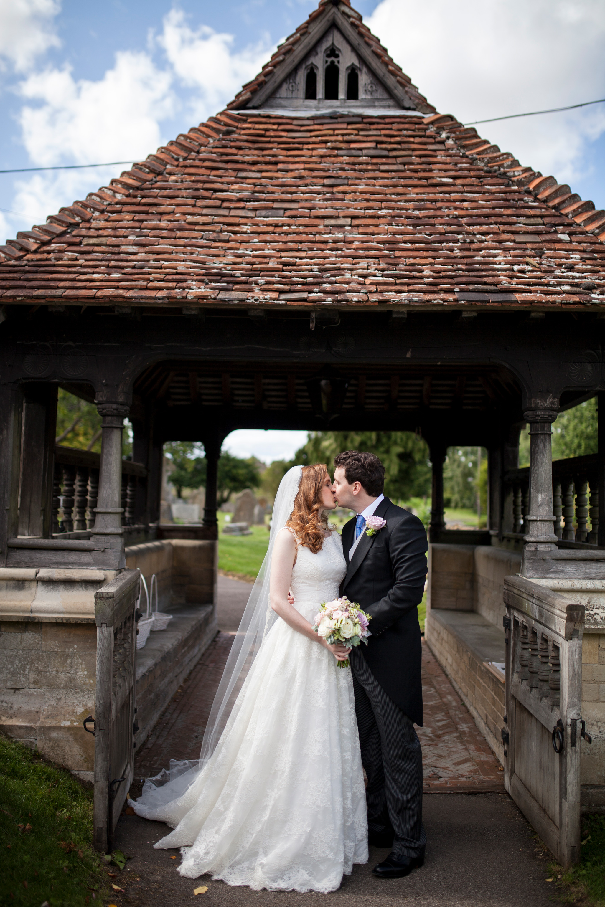 Couple, Kissing Gate, Church, Ceremony, Buckinghamshire Wedding,