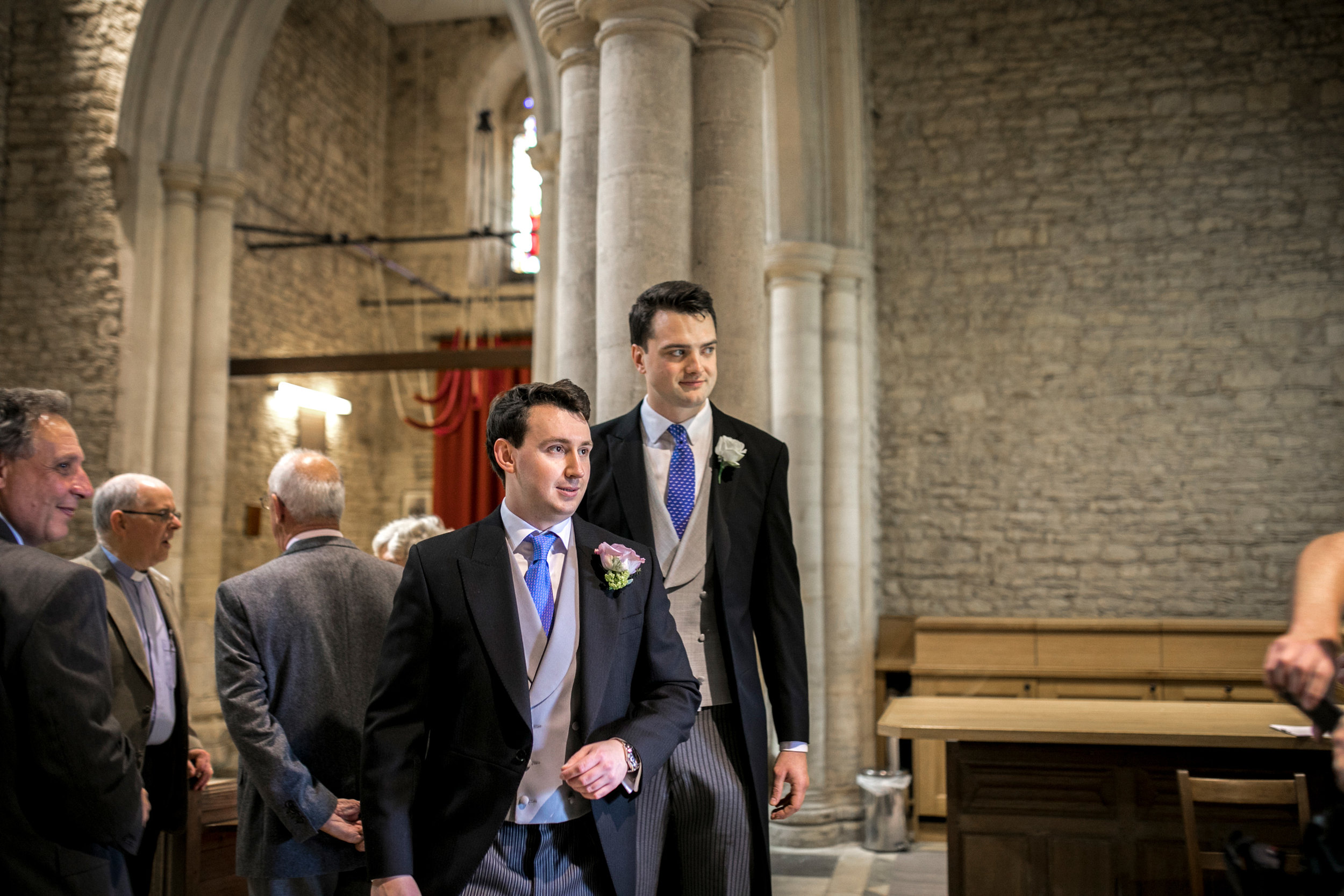 Church Wedding, Grooms Men, Olney Wedding,