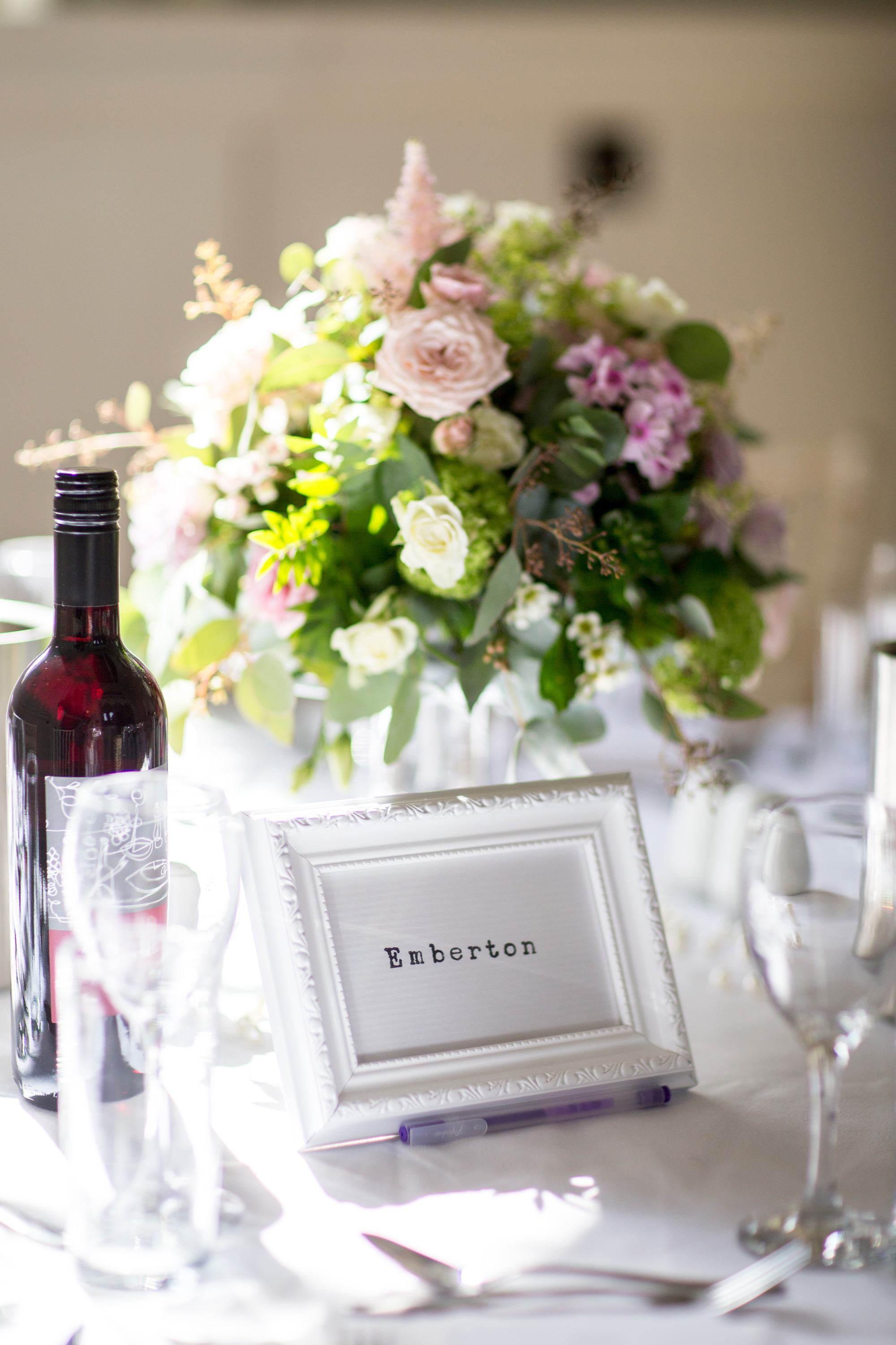 Emberton Wedding, Chicheley Hall, Flowers, Table Scape,