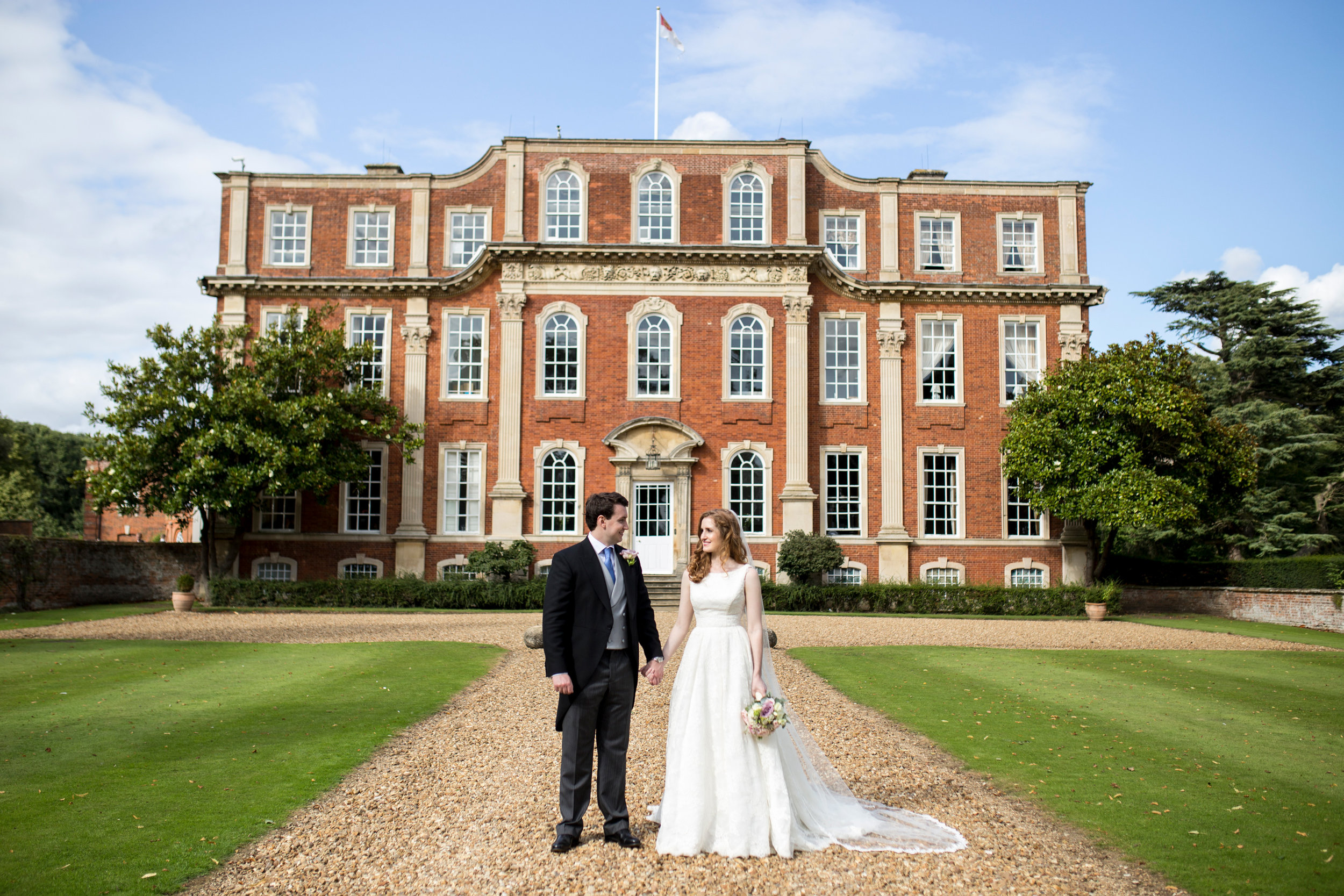 Wedding Venue, Chicheley Hall, Bride & Groom, Summer Wedding,