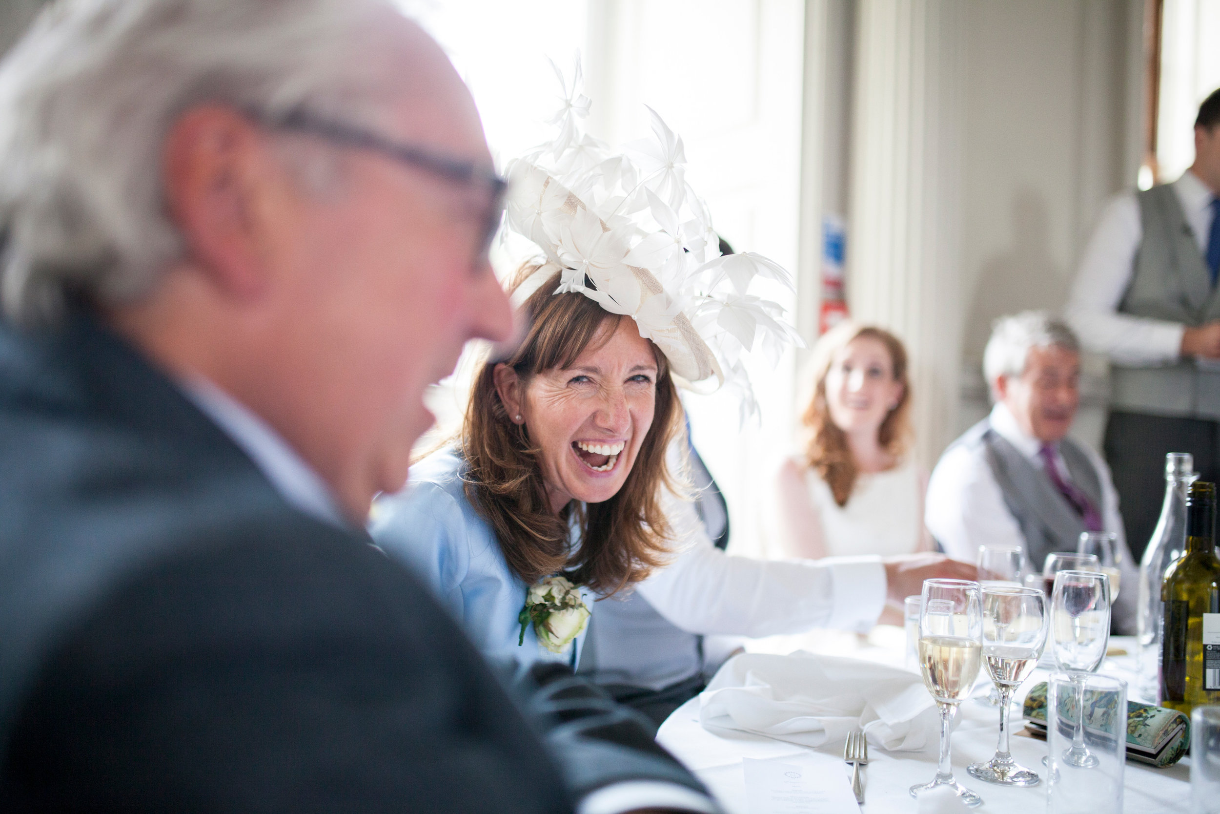 MOTB, Laughing, Wedding Speeches, Chicheley Hall,