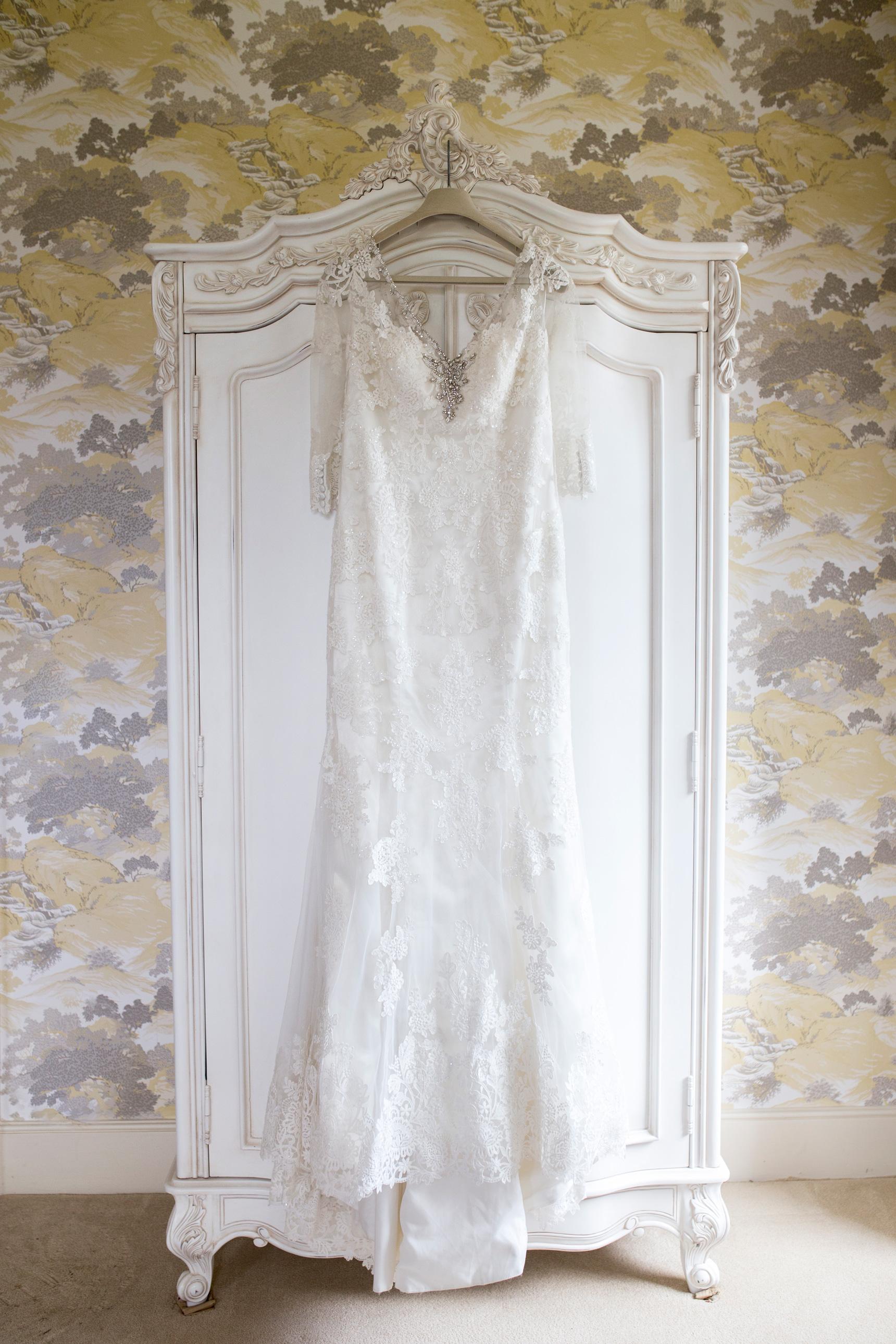 Wedding Dress, Bedfordshire Wedding, Embellished Dress,