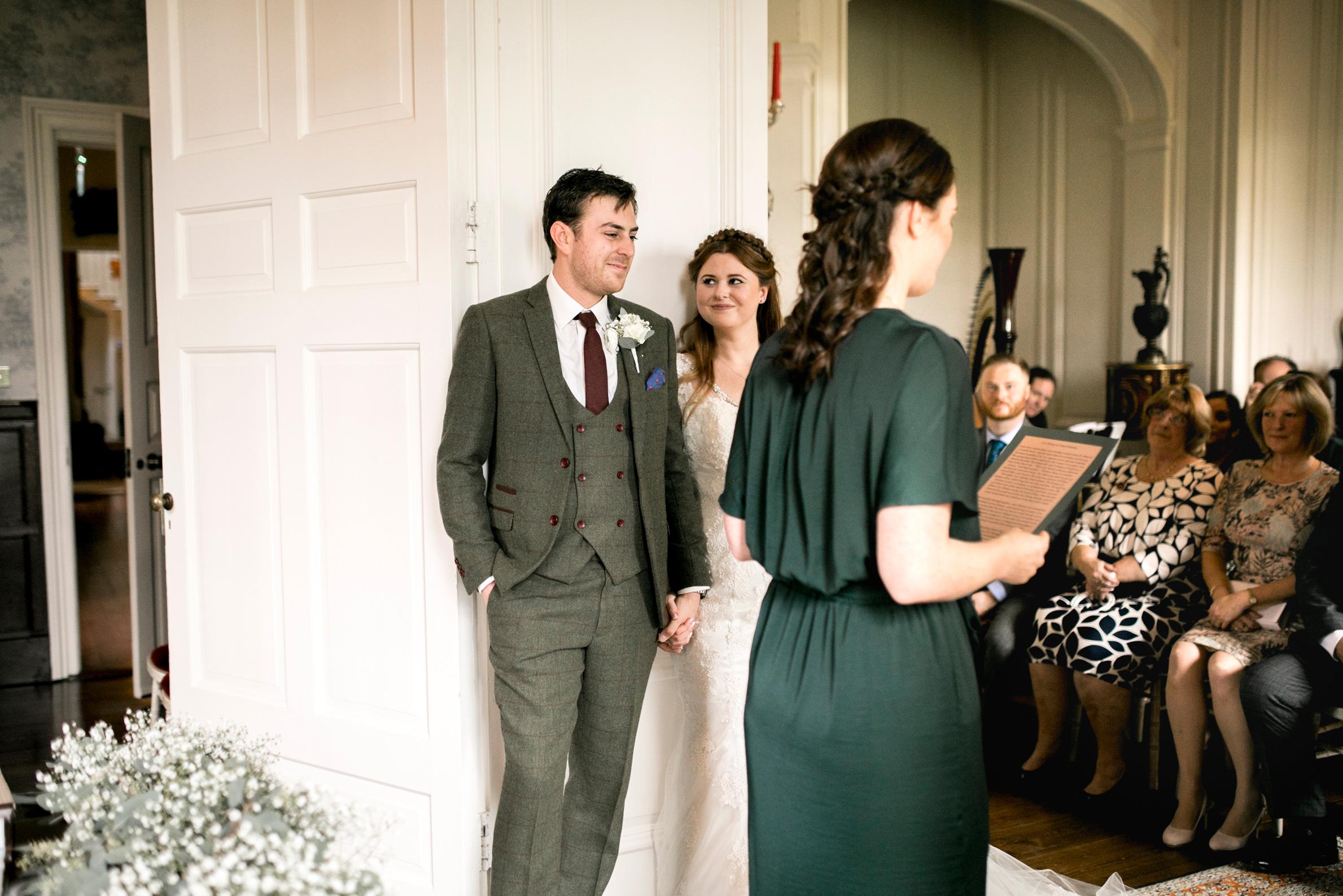 Wedding Ceremony, Ceremony Reading, Autumn Wedding, Tweed Suit,