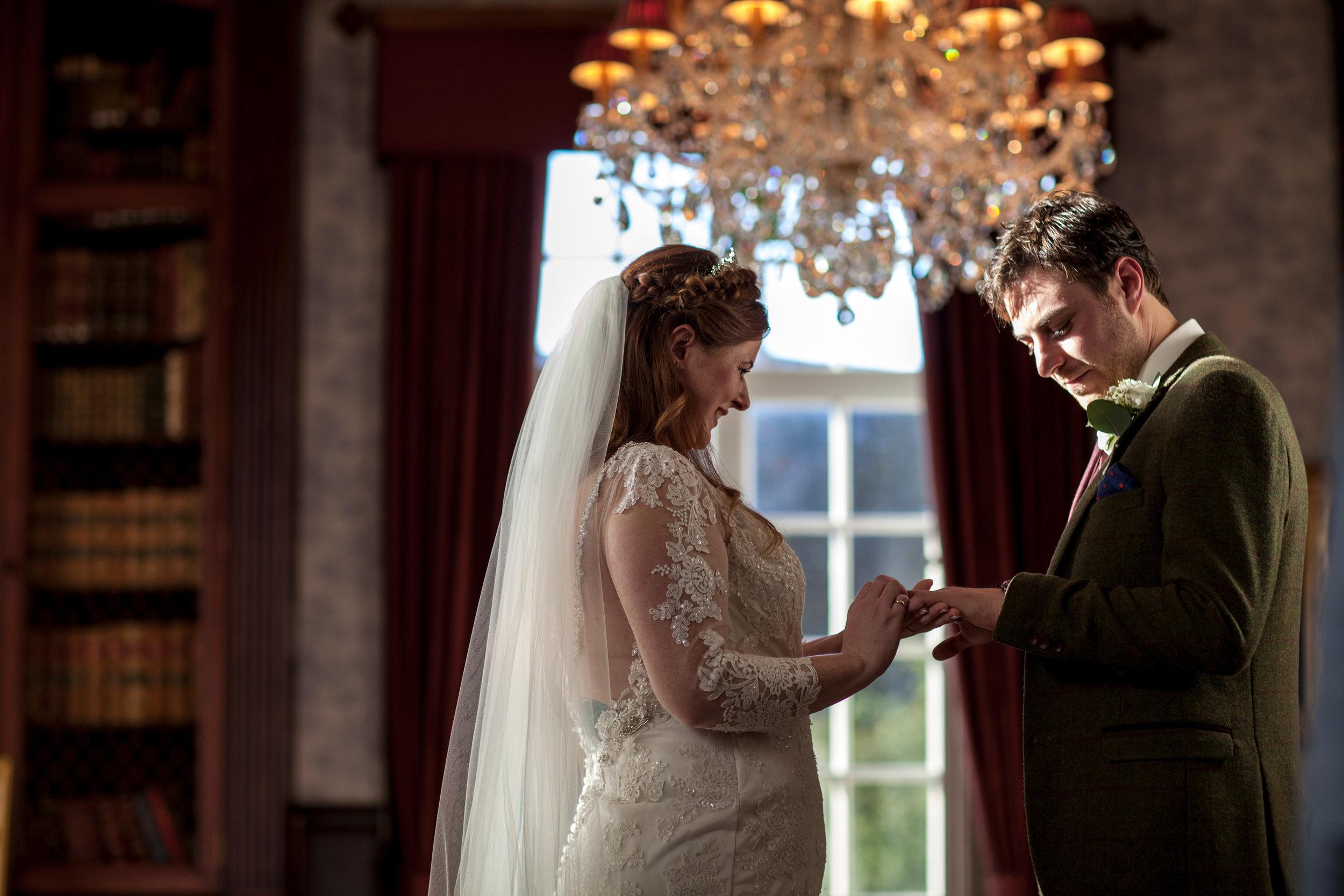 Ring Ceremony, Country House Wedding, Autumn Wedding, Bedfordshire Wedding,