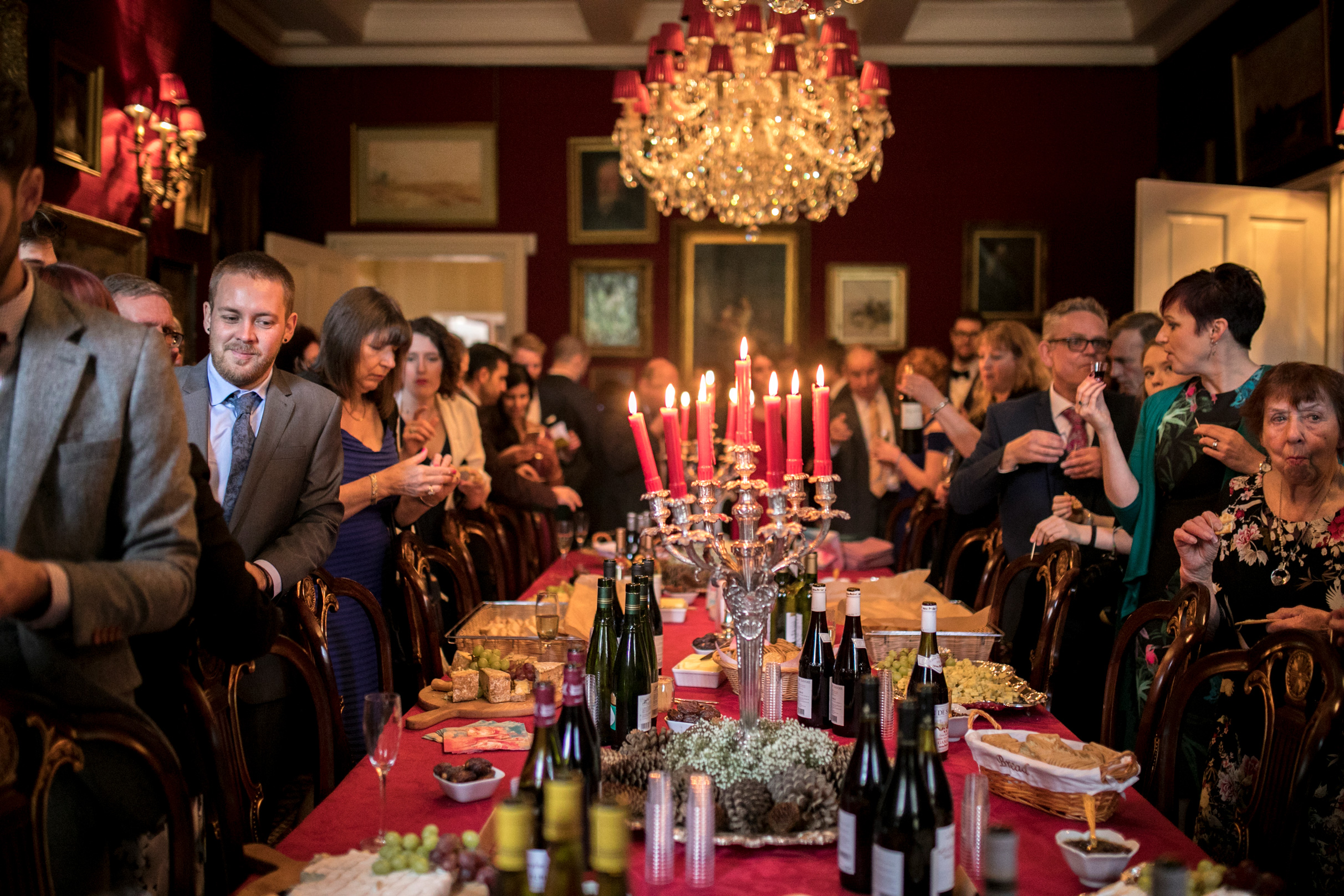 Cheese & Wine, Wedding Reception, Candle lit, Country House Wedding,