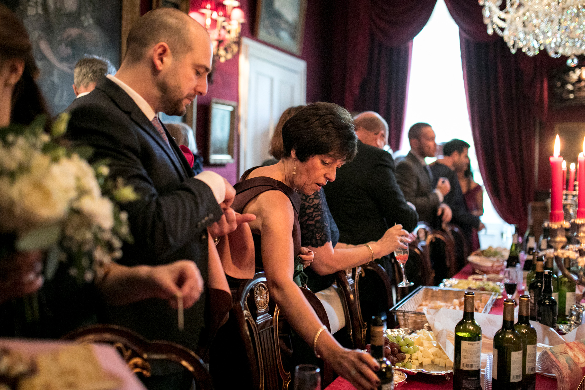Wedding Guests, Cheese Reception, Wine Tasting,