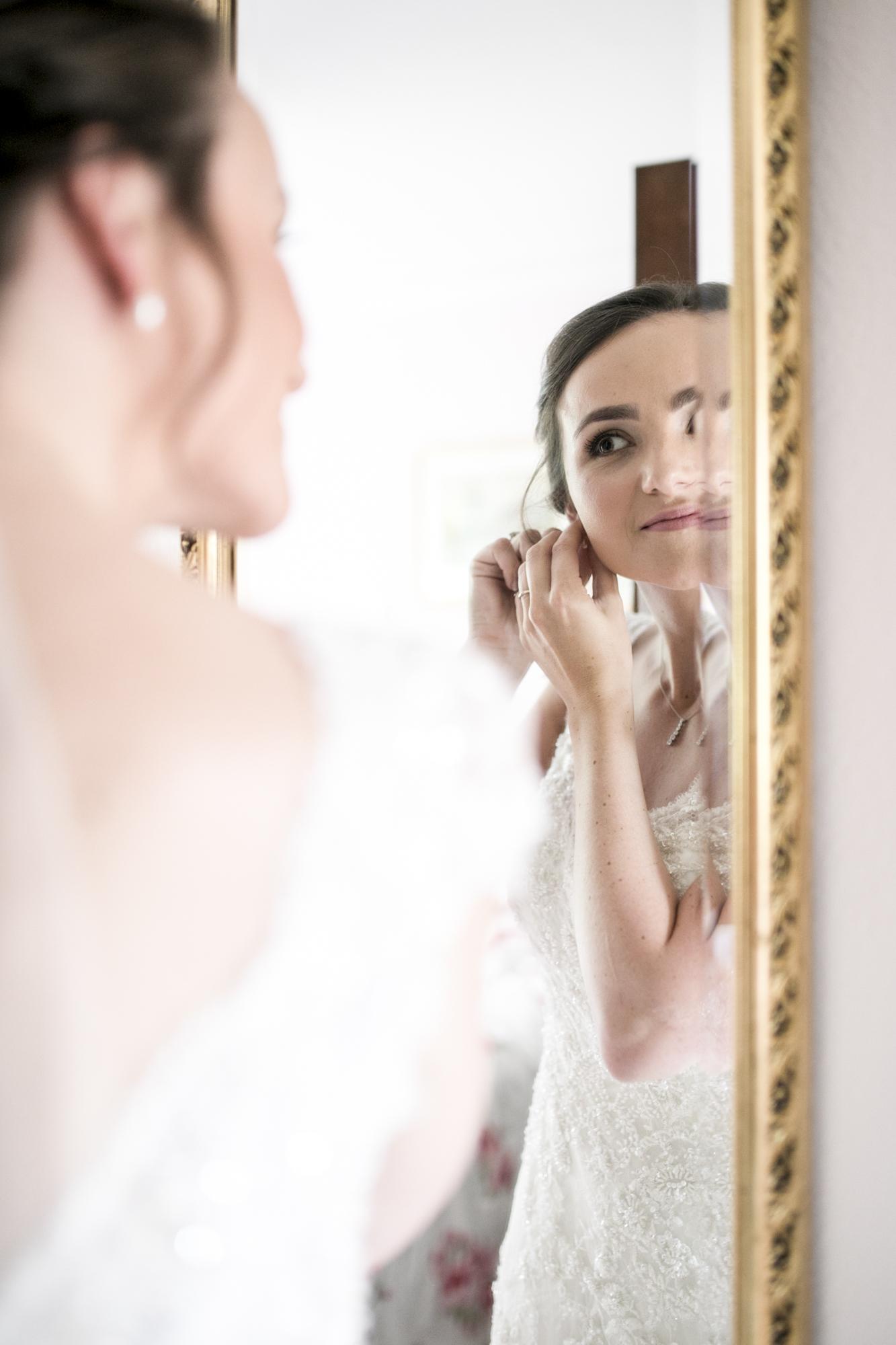 Bride, Earrings, Country Wedding