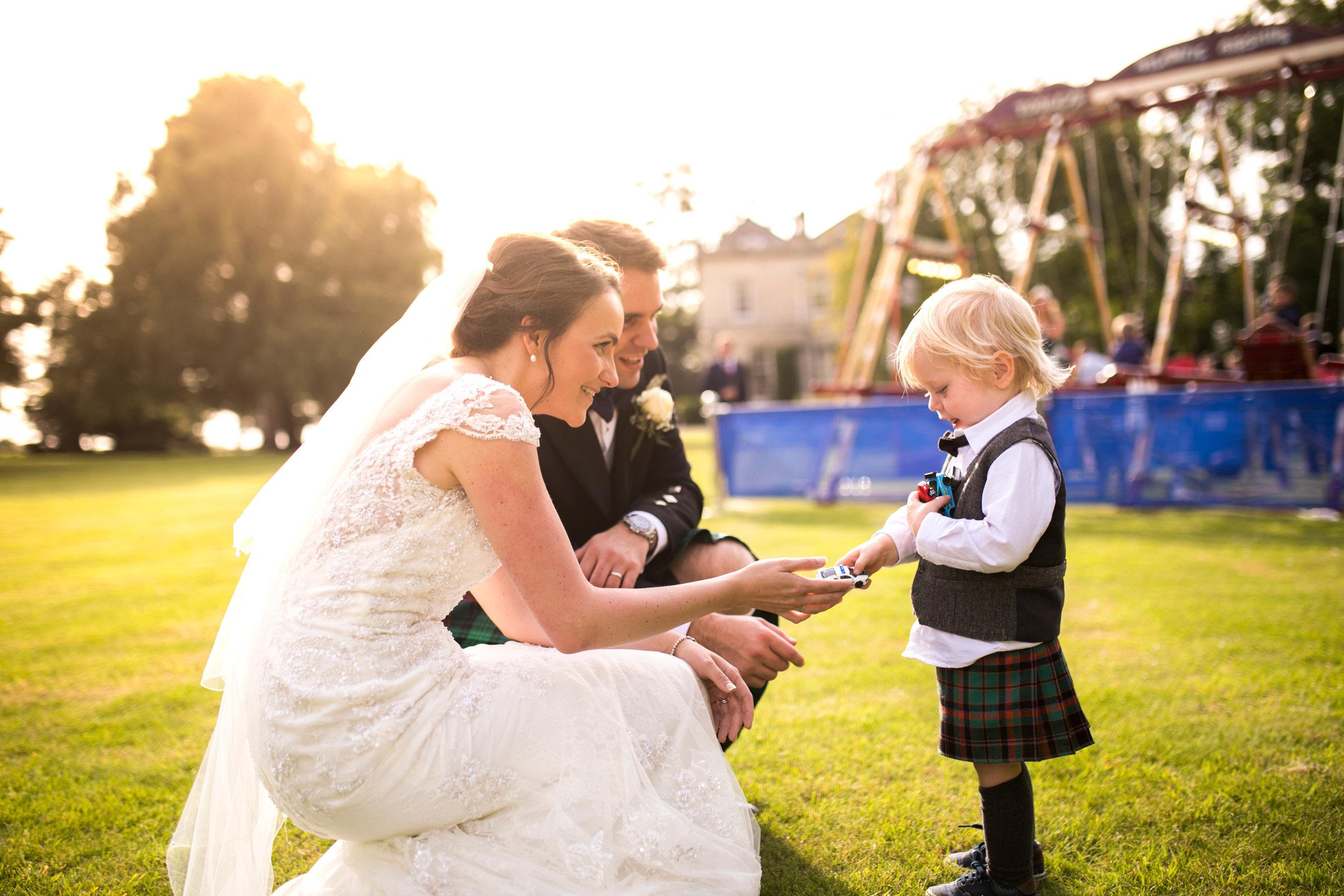 Sunset Wedding, Couple, page boy