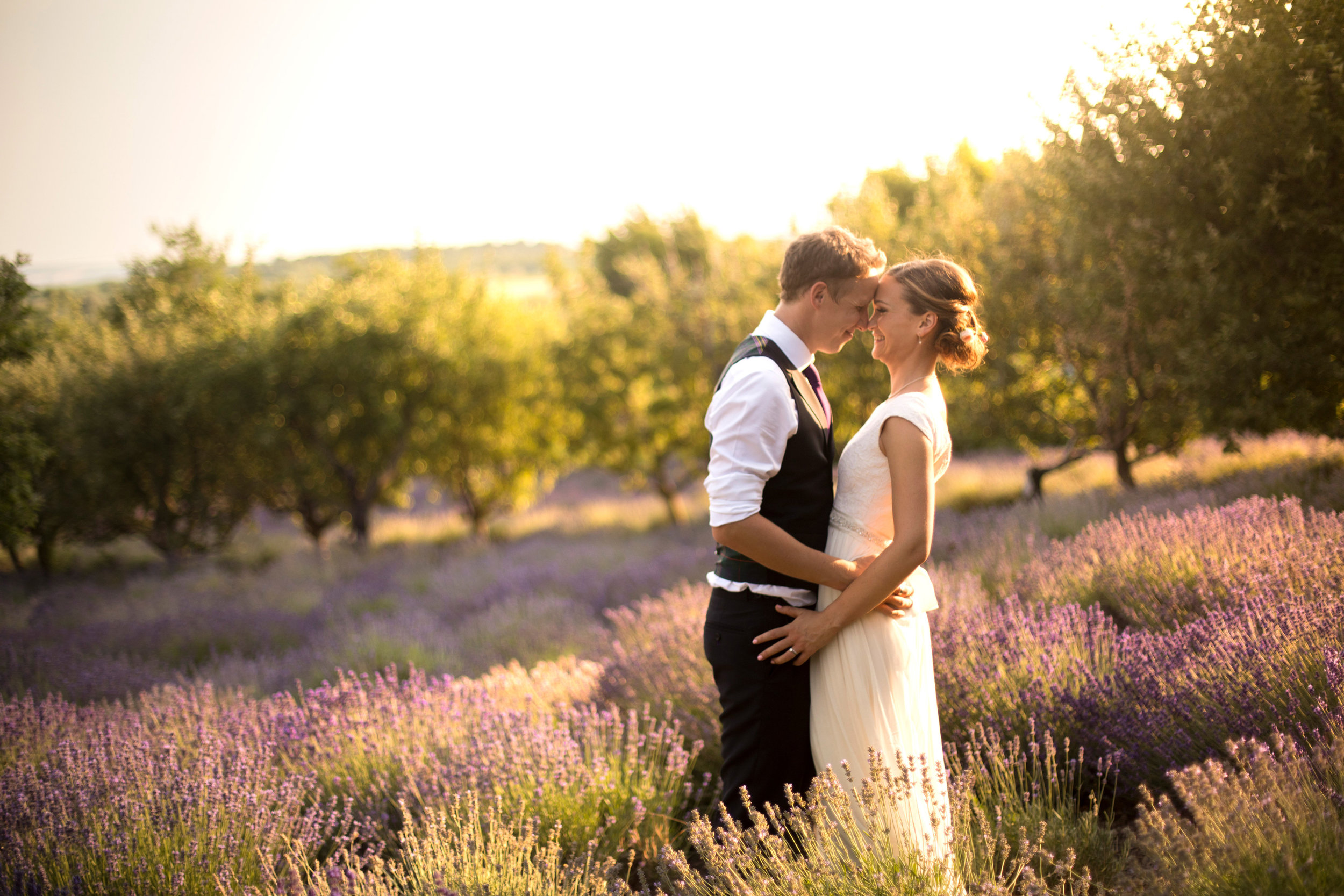 Hungary Budapest wedding in lavender field