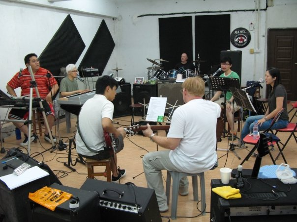 Bobby Playing with Local Musicians in Macao