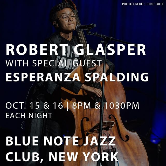 next week pre-birthday get down with the maestro. we will being exploration dance over your dinner... @robertglasper @bluenotenyc