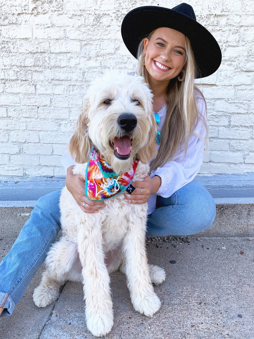 Customizable Pet Clothes Teal Tie-Dye Pet Bandana