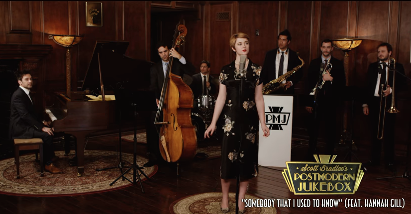 """""""Somebody That I Used To Know"""" by Hannah Gill with Postmodern Jukebox"""