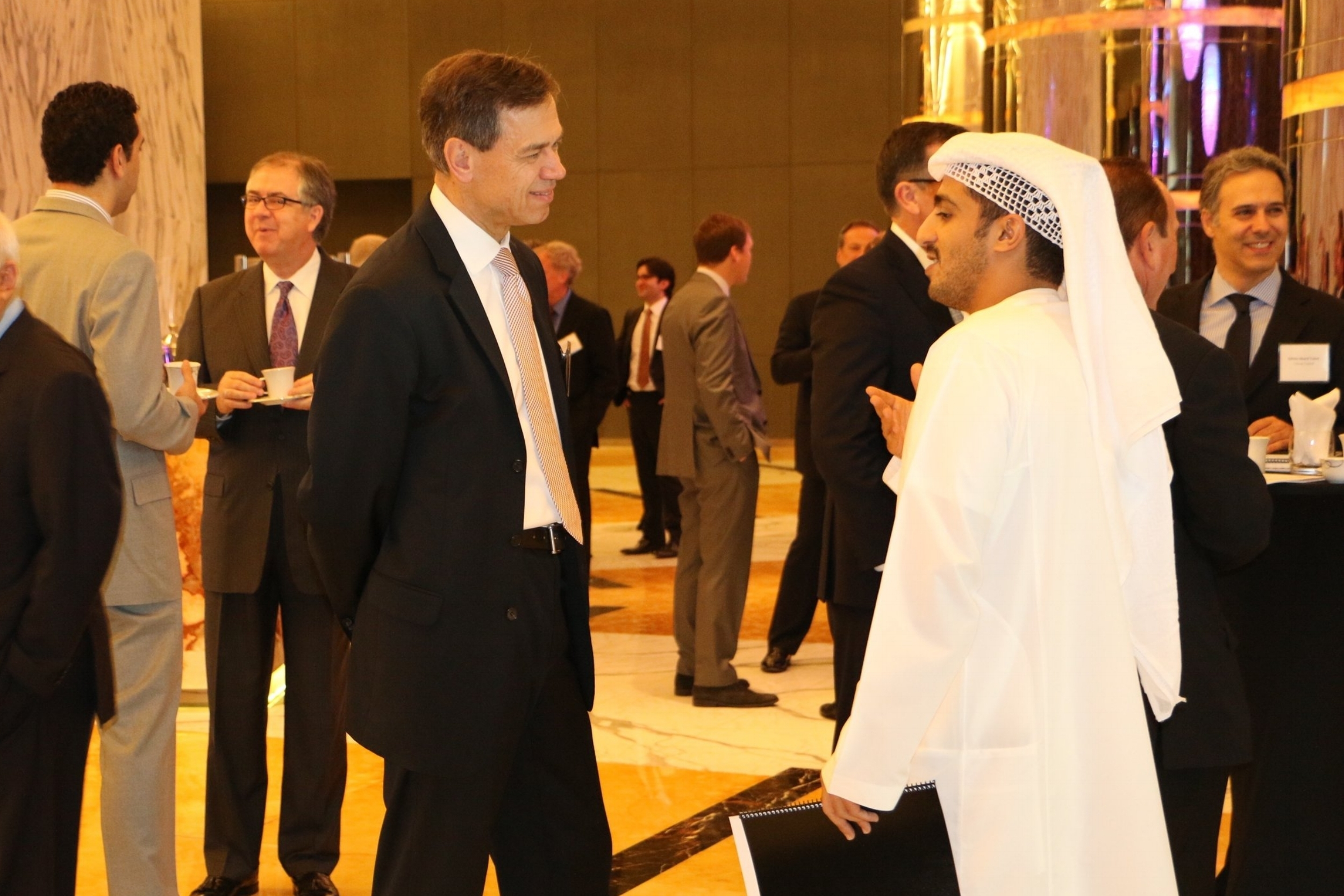 Embassy Staff Mingle & Make Introductions in Abu Dhabi