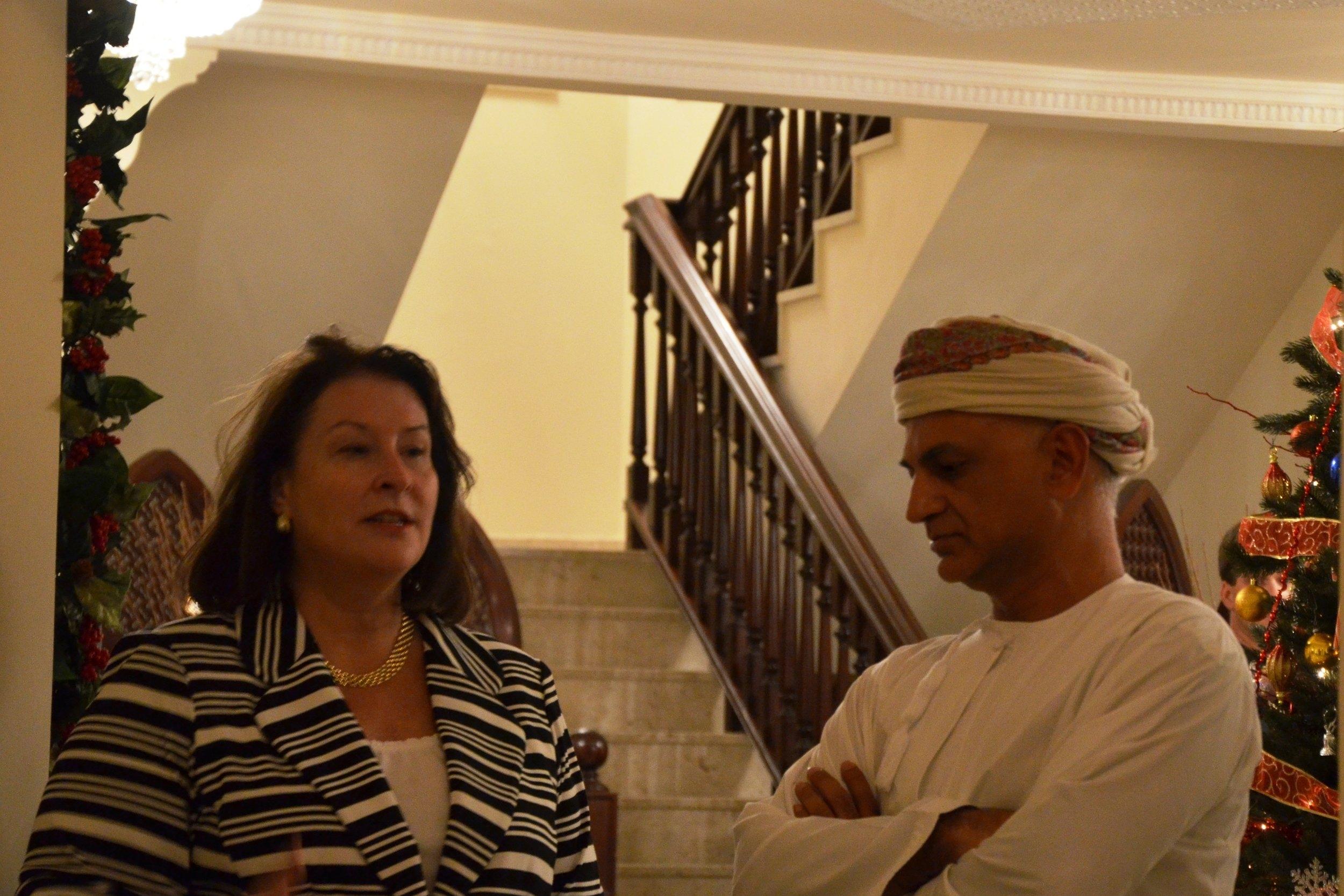 Ambassador Greta Holtz Welcomed our U.S. Delegation to Her Home in Oman in 2014
