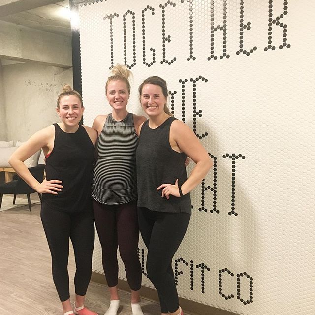 Community// these two instructors from @lifecyclespinstudio drove all the way from #yxe to hang out and spin together in @laurruggiero legacy cycle class @hivefitco ... @jenna.lifecycle and @carly.lifecycle you two are the greatest.