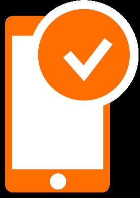 Registrering via mobil/webb