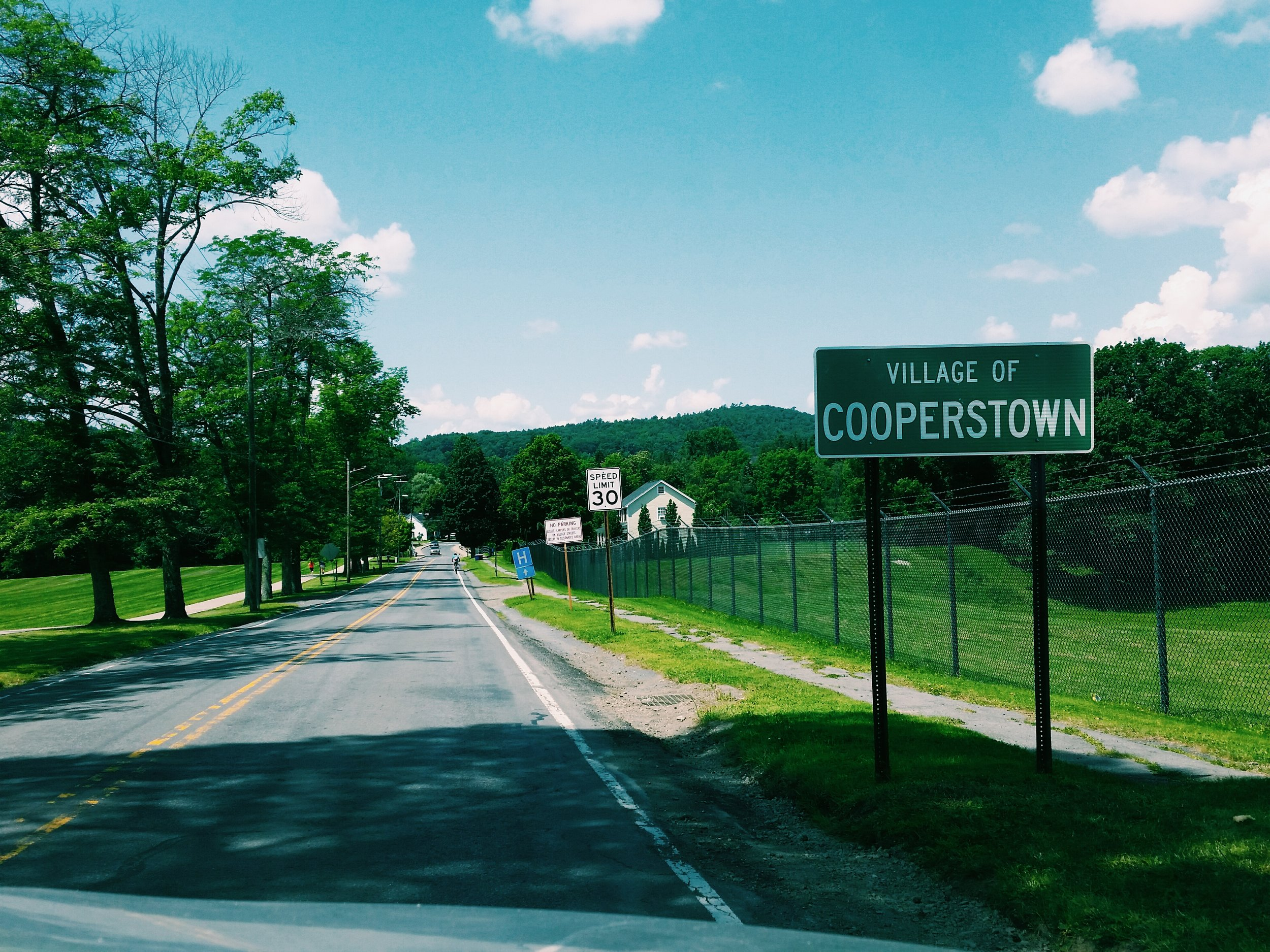 Mobile photo - Entering Cooperstown