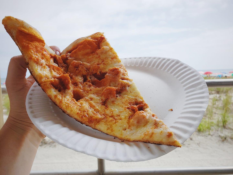 Buffalo Chicken Pizza at Roma Pizza, Ocean City, NJ