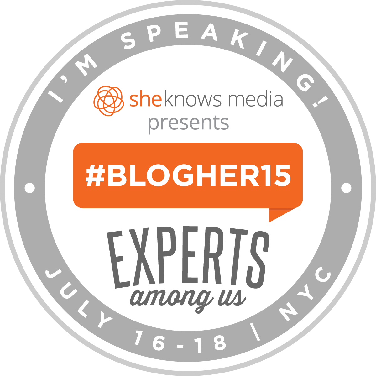 BlogHer 15 | Speaker | Storytelling Builds Bridges: I Want You To Know Me: Storytelling About Living with Mental Health Issues | July 2015