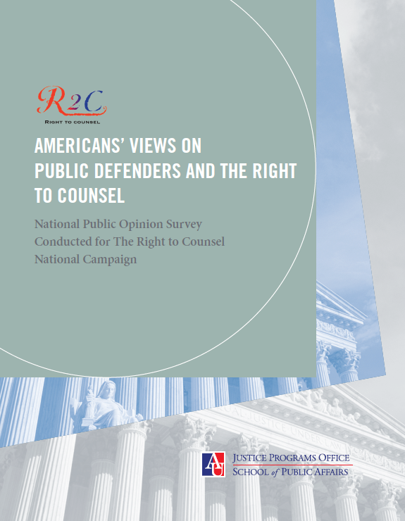 On March 16, R2C released a report on the need to educate Americans on the Constitutional right to counsel.
