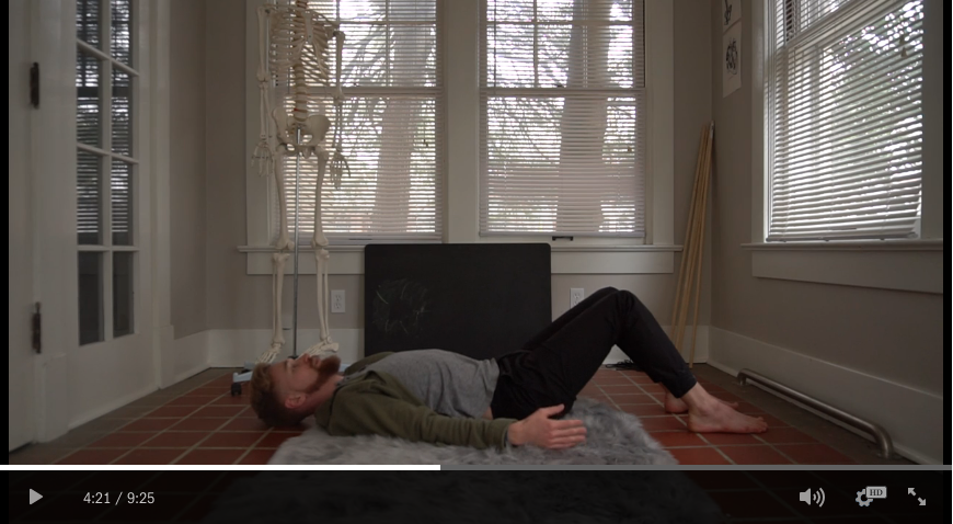 """Pictured: the """"lazy"""" method for incredible ease in your body."""